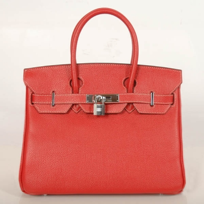 H30BJFS Hermes Birkin togo leather 30CM togo in Flame with Silver hardware
