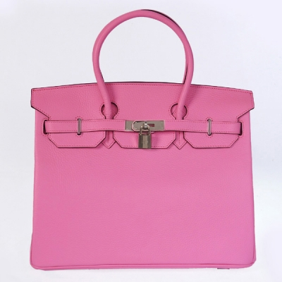H35CCPS Hermes Birkin 35CM clemence leather in Cherry Pink with Silver hardware