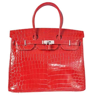 H35HLCFS Hermes Birkin 35CM high light Crocodile leather in Flame with Silver hardware
