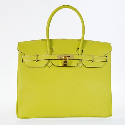 H35PSLYG Hermes Birkin 35CM Palm stripes leather in Lemon Yellow with Gold hardware