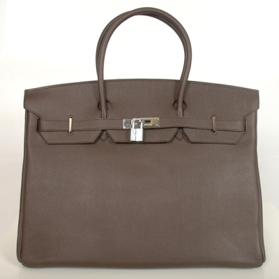 H40BJDBS Hermes Birkin togo leather 40CM togo in Dark Brown with Silver hardware