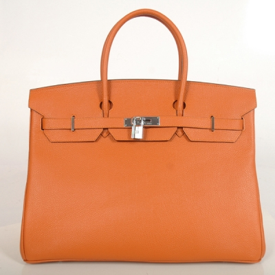 H40BJOS Hermes Birkin togo leather 40CM togo in Orange with Silver hardware