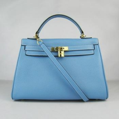 HKL32OLBG007 Hermes Kelly 32CM Light Blue(gold)