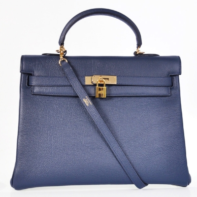 HKL35DB Hermes kelly 35CM Dark blue togo leather(Gold)