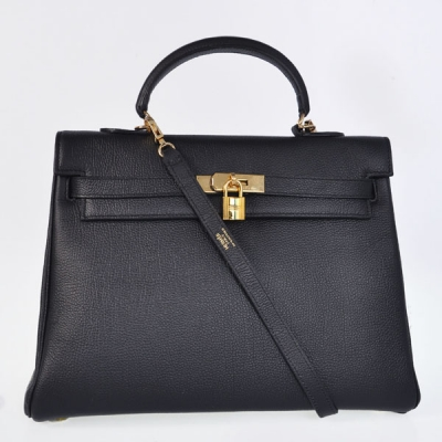 K35TBG Hermes kelly 35CM togo leather in Black with Gold hardware